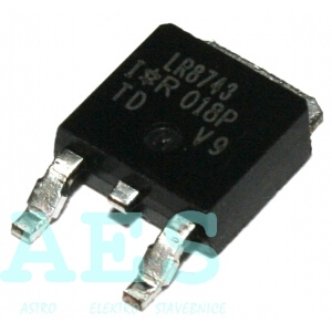 IRLR8743- SMD N MOSFET 30V/160A
