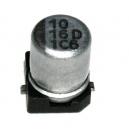 10uF/16V/105°C- SMD Elektrolytický kondenzátor Yageo, série CE: 0,09Kč/ks