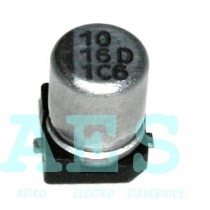 SMD Elektrolytický kondenzátor 10uF/16V, Yageo, série CE: 0,09Kč/ks
