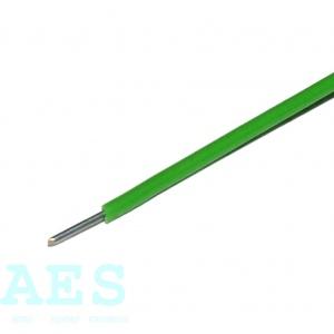 Jednožilový neohebný kabel 0,2mm^2, zelený, KABLO KLADNO, k. p.: 1,05Kč/m