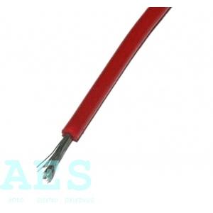 Jednožilový kabel 0,15mm^2, červený, KABLO KLADNO, k. p.: 0,96Kč/m