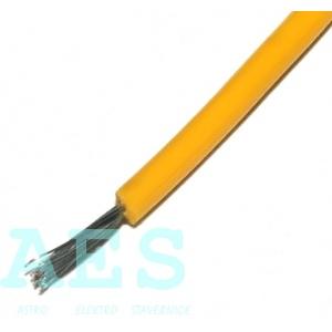 Jednožilový kabel 0,15mm^2, žlutý, KABLO KLADNO, k. p.: 0,96Kč/m