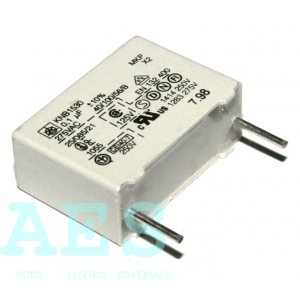 Kondenzátor 100nF/275VAC- ISKRA, typ KNB1530: 0,5882Kč/ks
