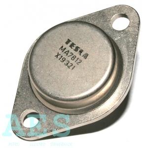 MA7812, stabilizátor +12V/1A, kovový, TESLA