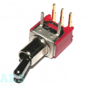 Přepínač ON-OFF-ON, typ SMTS-103-2C3: 2,5664 Kč/ks