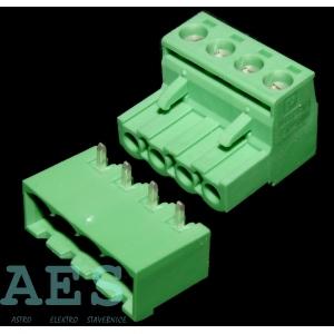 Dvojce výkonových konektorů do PCB  MSTB 2,5/4-(ST+G)-5.08: 5,1132Kč/ks