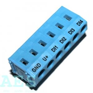 Svorkovnice do PCB Wago 235-406 s potiskem, 6 pinů: 6,9852 Kč/ks