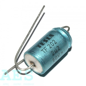 Bipolární elektrolyt. kondenzátor TESLA 2,2uF/50V: 0,5586 Kč/ks