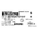 Kotouč 7k15/0805/1%- RK73H- KOA: 86,0000Kč/ks