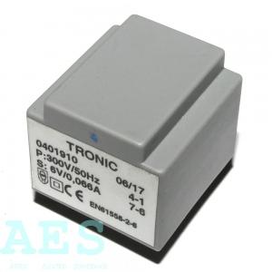 Speciální síťový transformátorek Tronic 300V/6V/0,4VA: 26,5073 Kč/ks