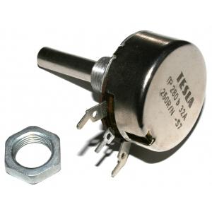 Potenciometr TP280b 32A 250R/N/M, TESLA: 4,73Kč/ks
