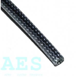 Bužírka- ochranná trubička 3x0,5, černá, Fatra Napajedla