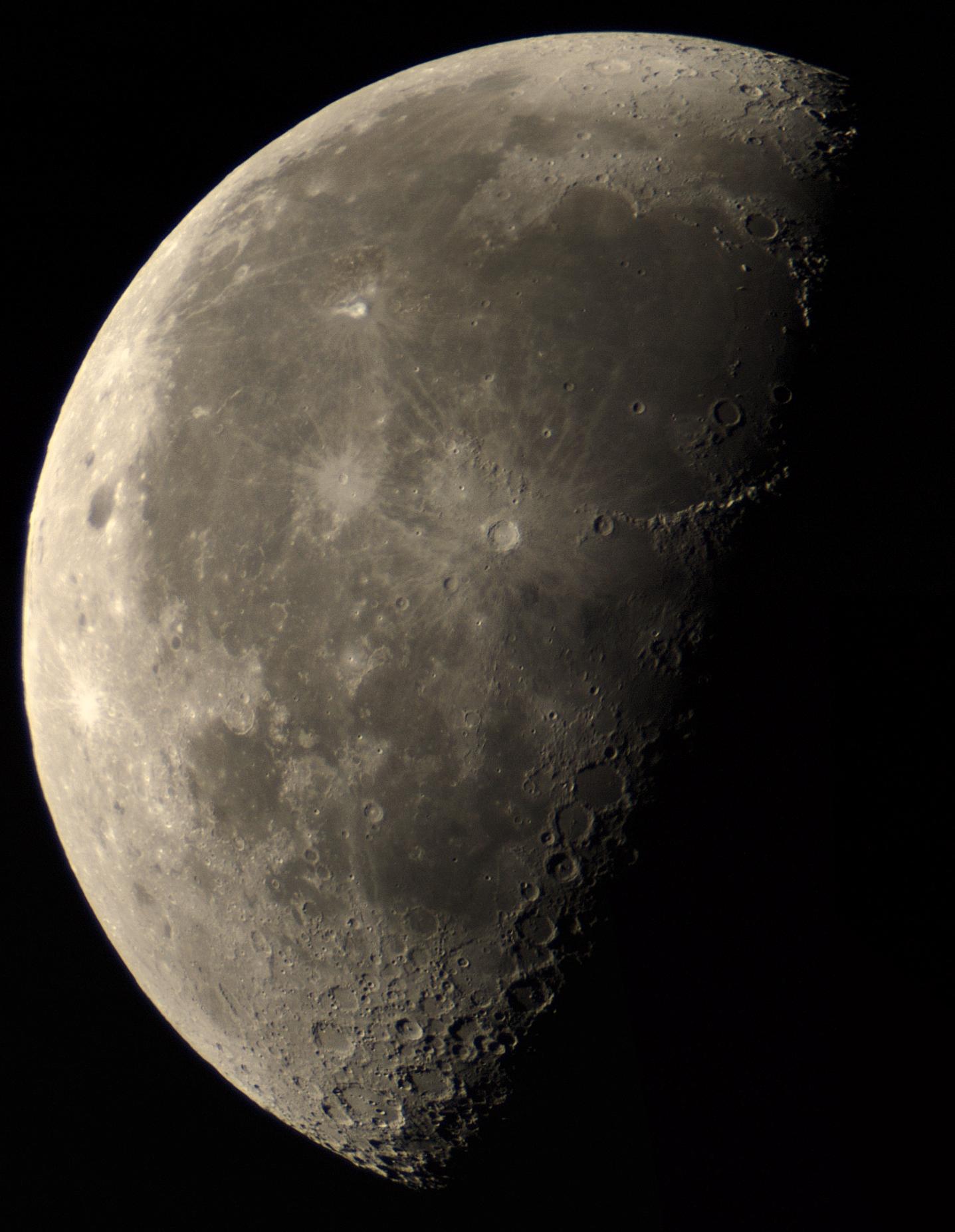 mozaika Měsíce- barlow SVBONY 2x